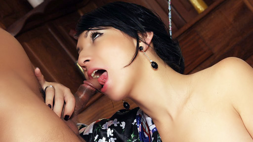 Seductive Tranny Blowjob